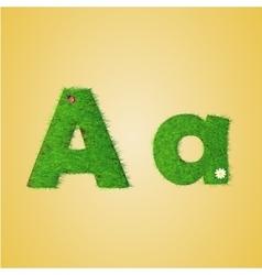 Grass letter alphabet vector