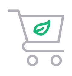Green cart vector