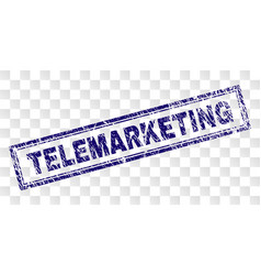 Grunge telemarketing rectangle stamp vector
