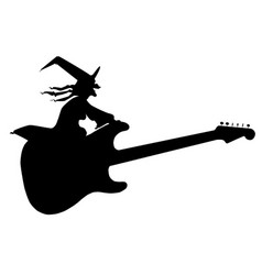 Guitar witch vector
