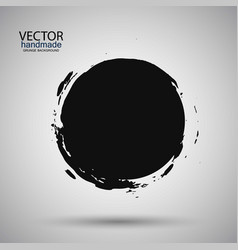 Hand drawn circle shape label logo design vector