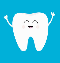 Healthy tooth icon smiling head face oral dental vector