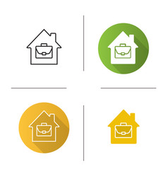 Home office icon vector