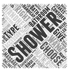 How to Choose Shower Bathroom Accessories Word vector image