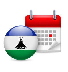 Icon of national day in lesotho vector