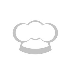 isolated chef hat icon vector image