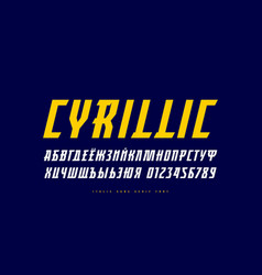 italic serif font in sport style vector image