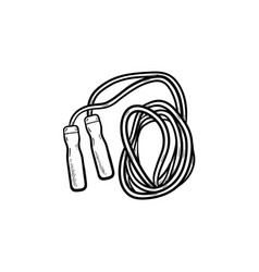 jumping rope hand drawn outline doodle icon vector image