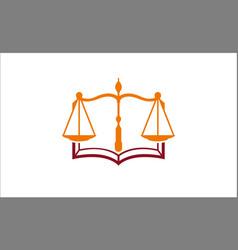 law book logo vector image