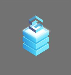 lisk open-source public blockchain platform icon vector image