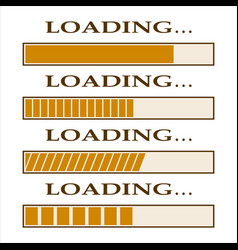 loading bar indicators vector image