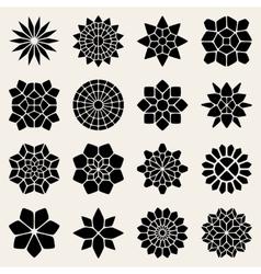 mandala lace ornaments vector image
