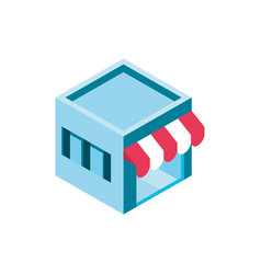 market online shopping isometric icon vector image