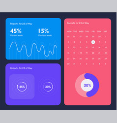 minimalistic infographic template with flat design vector image