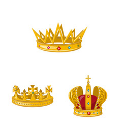Monarchy and gold logo vector
