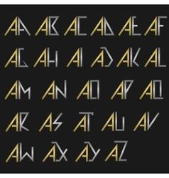 Monogram logo set vector