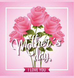 mothers day card floral vector image