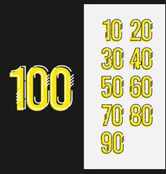 Number 100 set template design design vector
