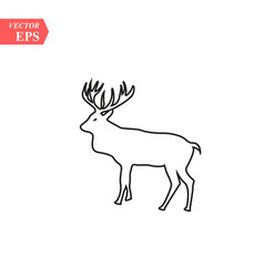 one line design silhouette of deerhand drawn vector image