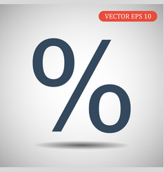 percent icon eps 10 vector image
