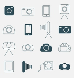 Photo Camera Simple Icons Set vector image
