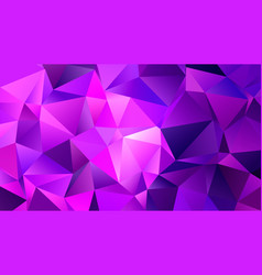 pink triangles trendy low poly backdrop design vector image