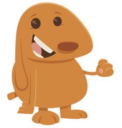 Puppy cartoon character vector