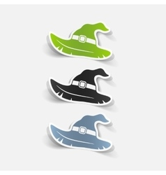 realistic design element witch hat vector image