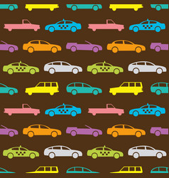 Retro car seamless pattern vector