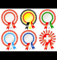 Rosettes to represent european countries including vector