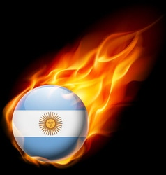 Round glossy icon of argentina vector image