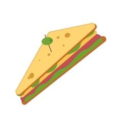 Sandwich snack lunch design vector
