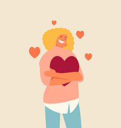Self loving girl character vector