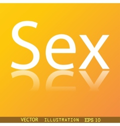 sex icon symbol Flat modern web design with vector image