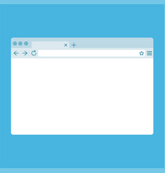simple flat browser window isolated on blue vector image