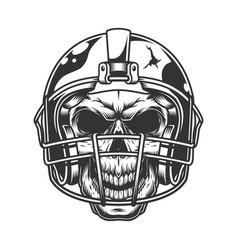 skull in football helmet vector image