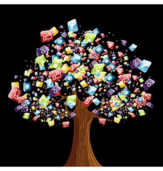 Smart phone application tree vector