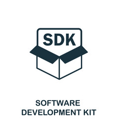 software development kit icon symbol vector image