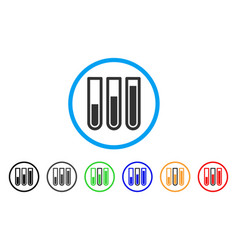 Test tubes rounded icon vector