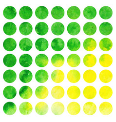 Watercolor set of circles vector