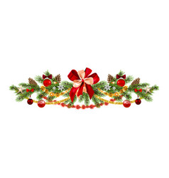 winter holiday garland vector image