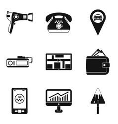work icons set simple style vector image