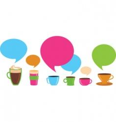 coffee dialog vector image vector image