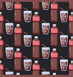 cola flat seamless pattern vector image