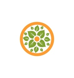 Isolated abstract round shape natural logo Green vector image