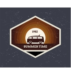 Surf Vintage logo vector image