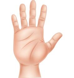 Cartoon of human hand vector image