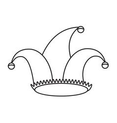 jester hat celebration ornament thin line vector image vector image