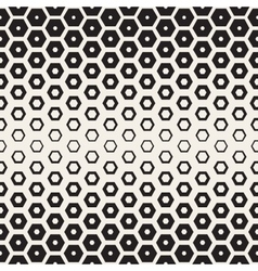 Seamless White And Black Hexagon Halftone vector image vector image