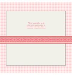 Vintage pink background for invitation card vector image vector image